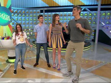 Jorge Fernández rememora 'Wannabe' en 'La ruleta de la suerte' ante un fan de las Spice Girls