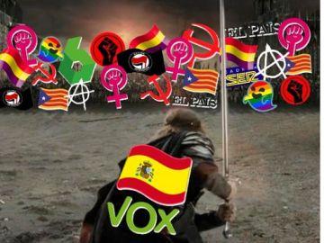 Imagen del cartel de Vox