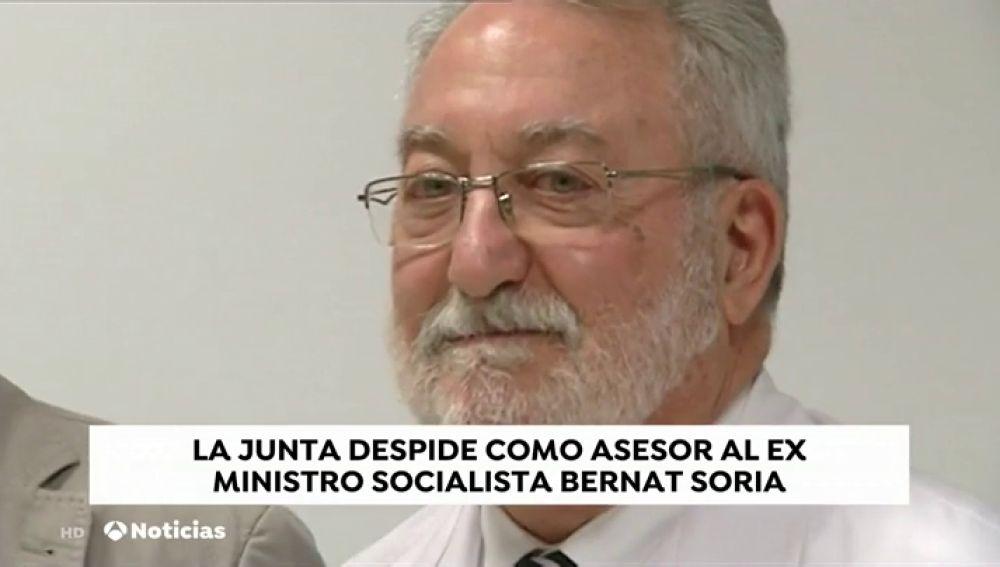 La Junta de Andalucía despide al exministro socialista Bernat Soria por mantener negocios con empresas privadas