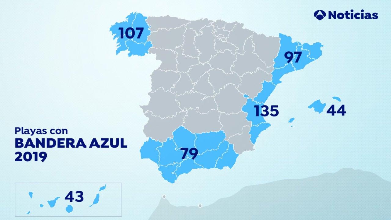 Playas Con Banderas Azules: España Lucirá 669 Este Verano