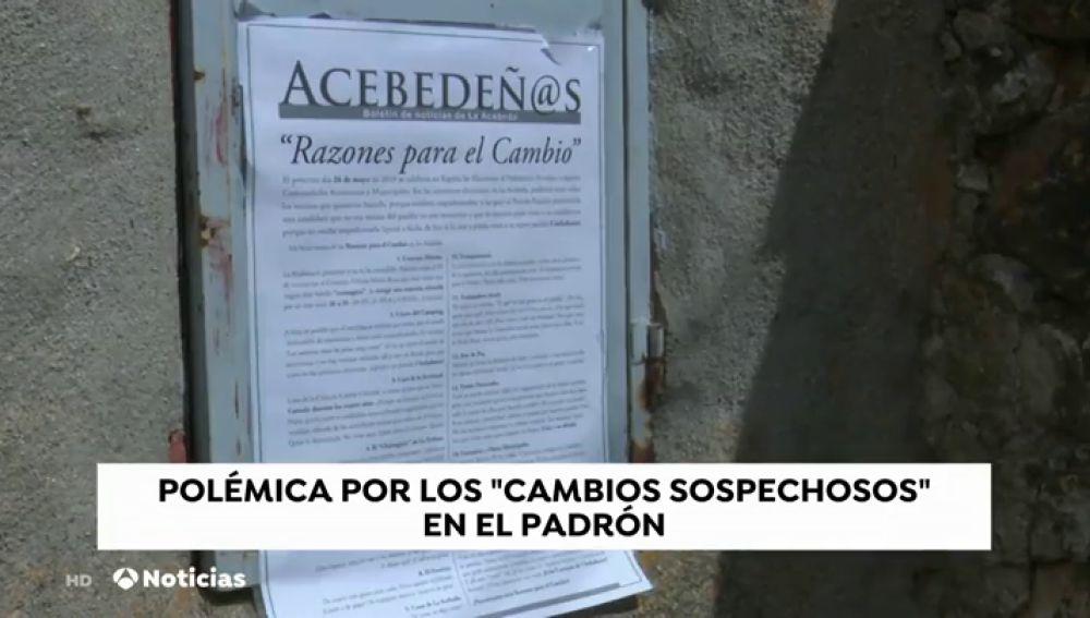 Los vecinos de la Acebeda han denunciado a la Junta Electoral cambios sospechosos en el padrón