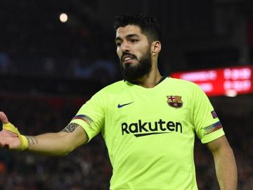 El delantero del Barcelona, Luis Suárez.