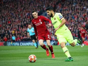 Robertson y Suárez durante el partido de vuelta