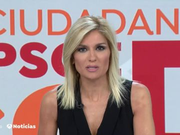 Sandra Golpe presentando Antena 3 Noticias 1