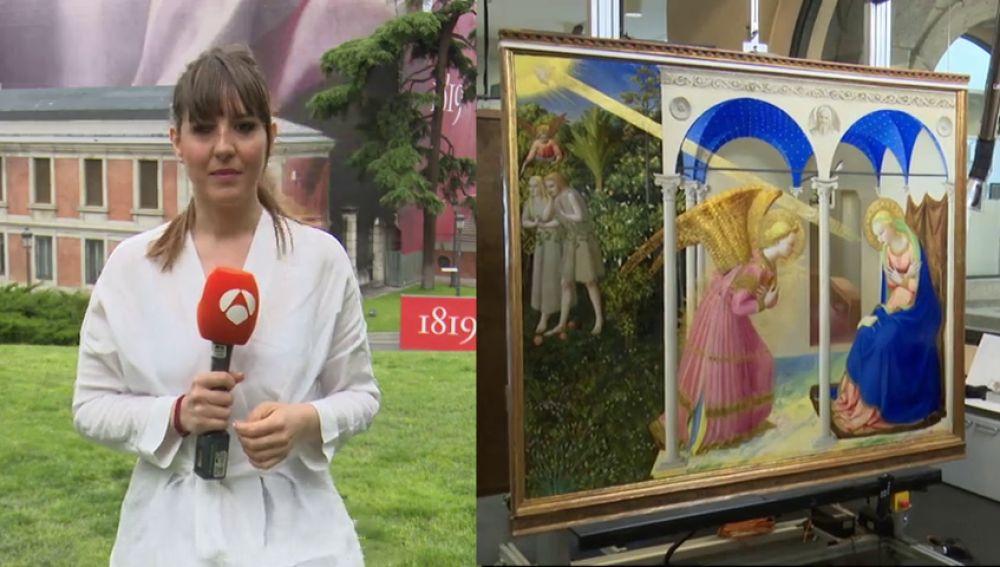 """El Museo del Prado presenta """"La Anunciación"""" de Fra Angelico tras su restauración"""
