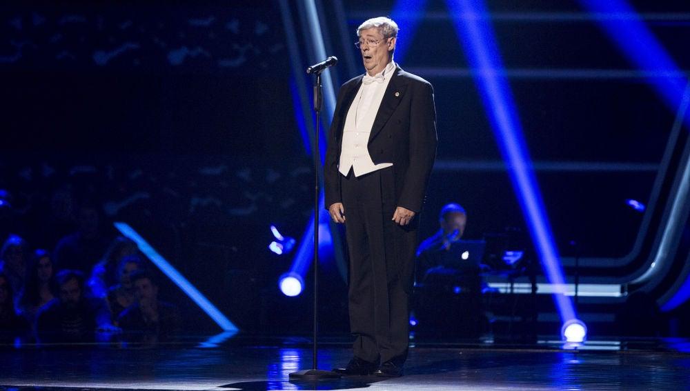 Javier Gallego canta 'Nessum Dorma' en las Audiciones a ciegas de 'La Voz Senior'