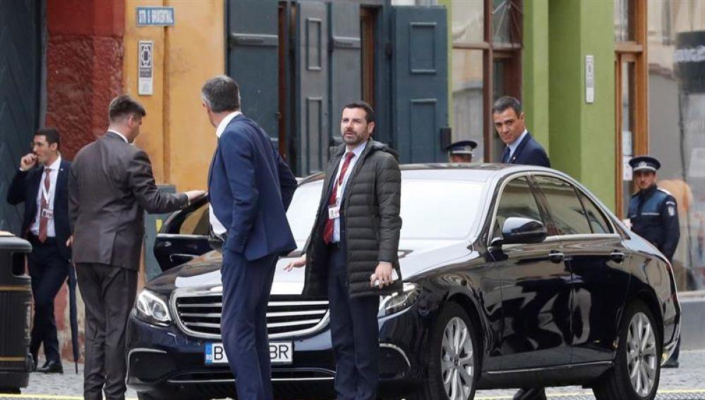 Sánchez, a su salida de la cumbre europea informal de Sibiu