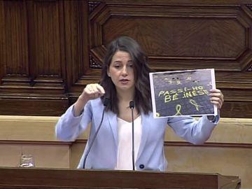 La emocionada despedida de Inés Arrimadas del parlamento catalán