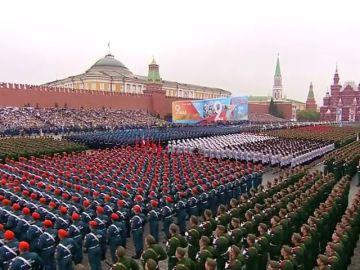 Putin preside el Desfile militar de la Victoria en la Plaza Roja