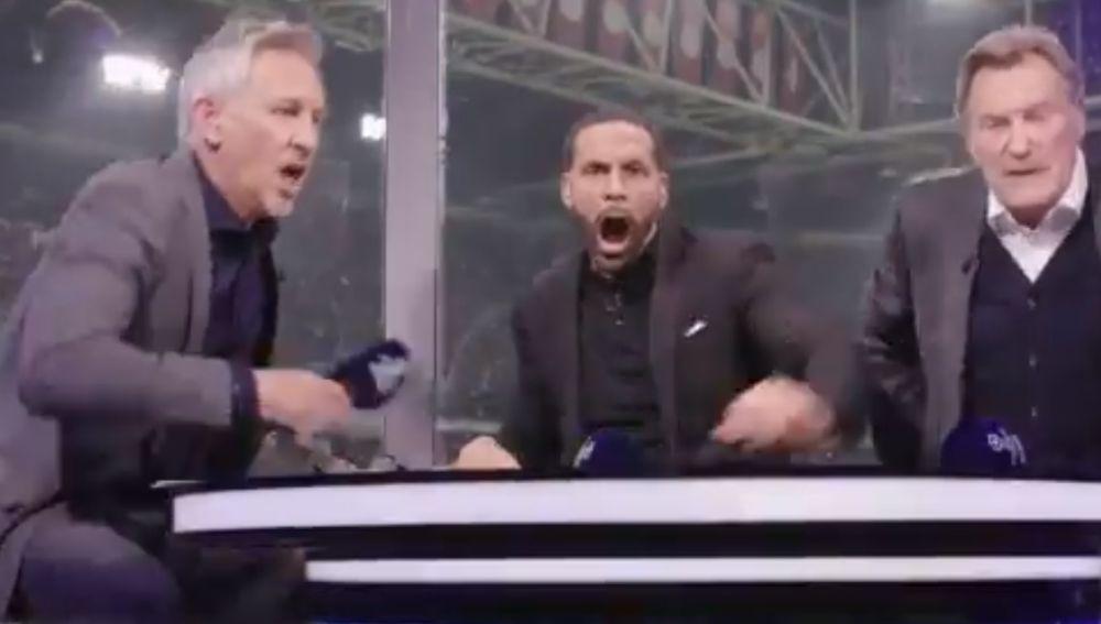Así festejaron Lineker y Ferdinand el triunfo del Tottenham
