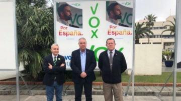 En la imagen, los dirigentes de Vox Melilla