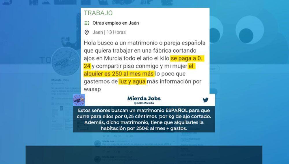 'Mierda Jobs', la cuenta de Twitter que engloba los trabajos basura entre los usuarios