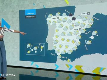El domingo persisten las lluvias en el norte y las temperaturas en valores bajos