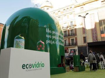 Contenedor instalado en Madrid