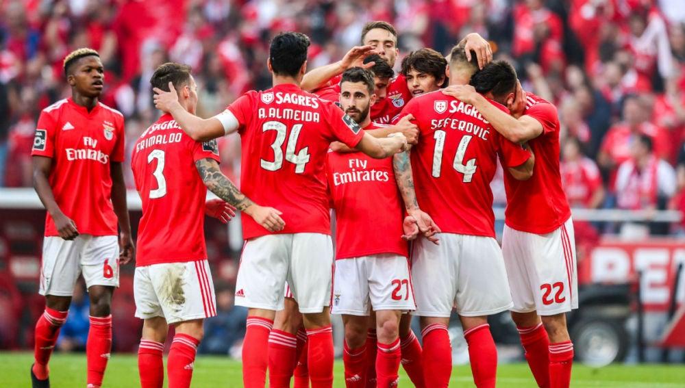 El Benfica, de celebración