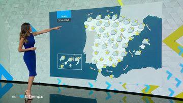 La lluvia se el lunes al norte peninsular y se recuperan los termómetros