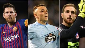 Messi, Aspas y Oblak