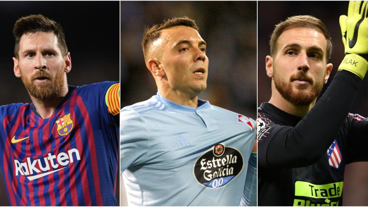 Lionel Messi, Iago Aspas Y Jan Oblak, Los Grandes