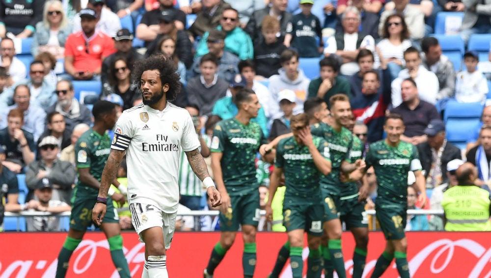 Marcelo, en un gol del Betis