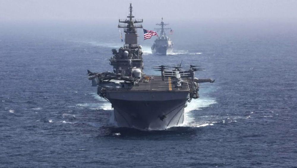La armada estadounidense ya se encuentra en aguas del mar Arábigo antes las posibles amenazas iraníes