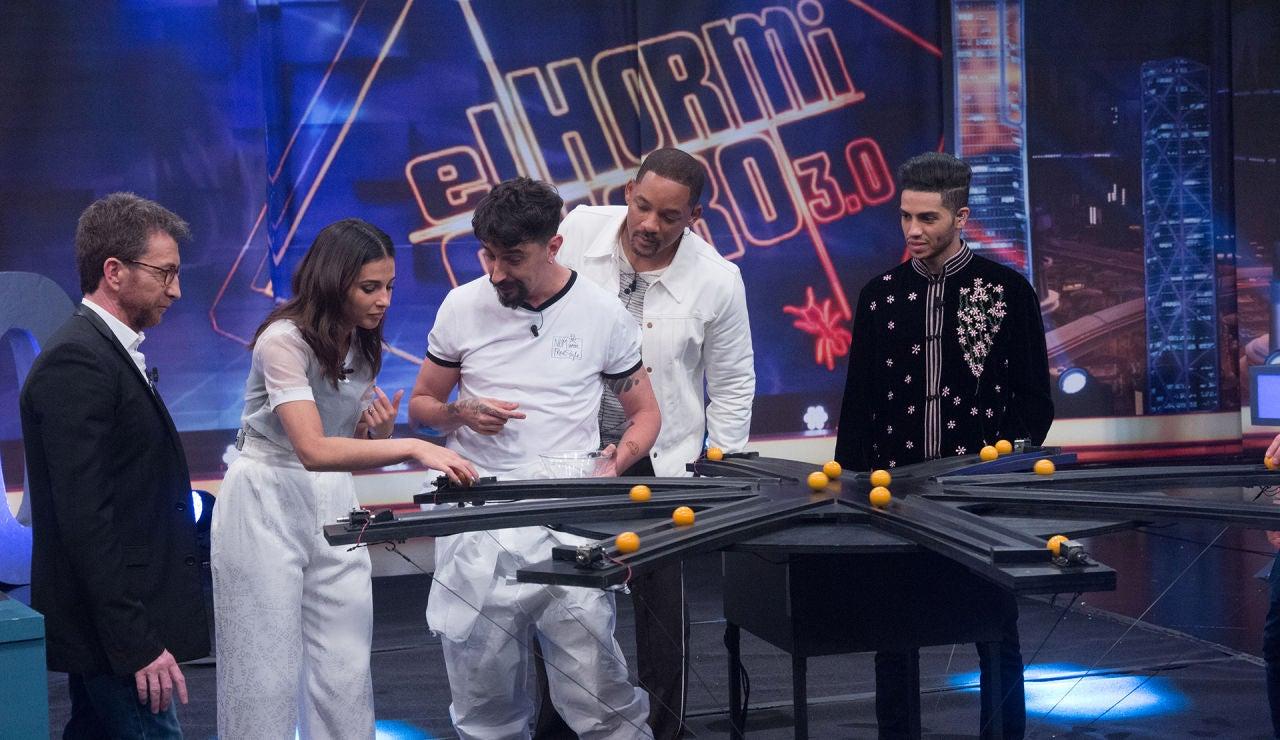 Will Smith, Mena Massoud y Naomi Scott alucinan con el asterisco de la muerte de Marron en 'El Hormiguero 3.0'