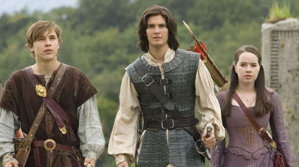 William Moseley, Ben Barnes y Anna Popplewell en Narnia