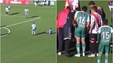 Un árbitro boliviano se desploma en pleno partido