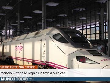 Amancio Ortega le regala un tren a su nieto