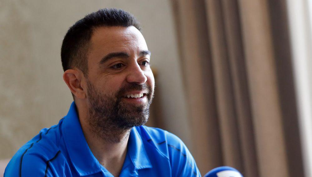 Xavi Hernández, durante una entrevista