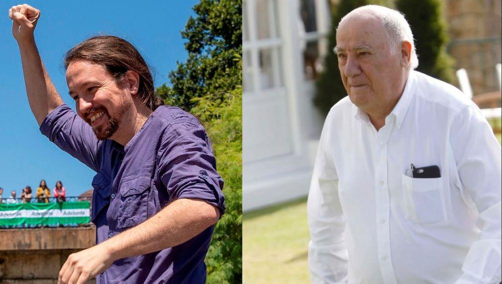 Montaje de Pablo Iglesias y Amancio Ortega