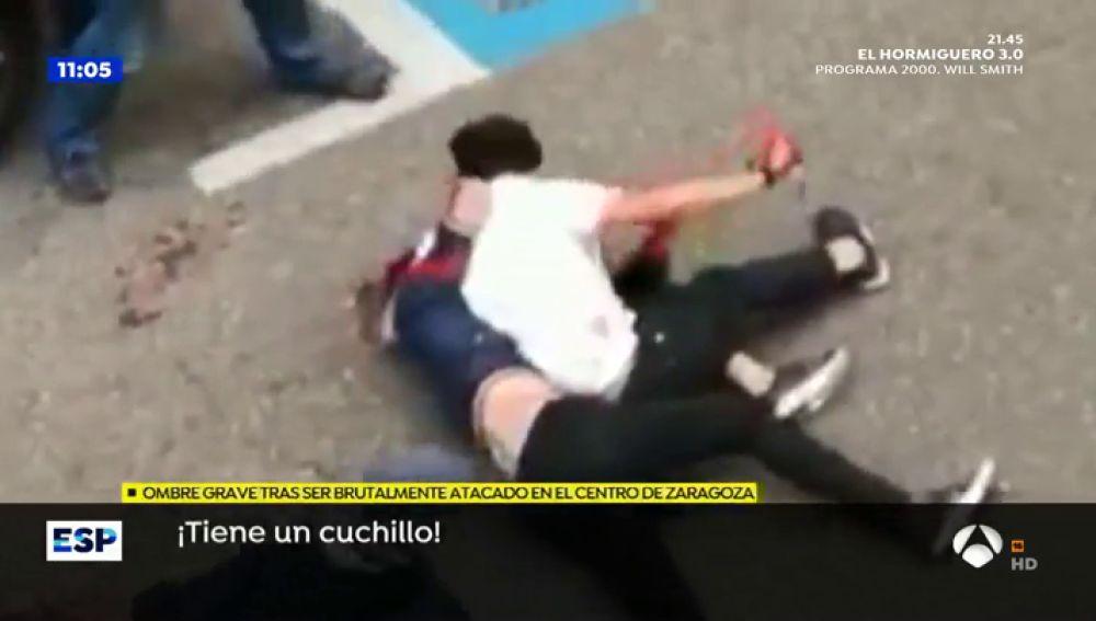Brutal apuñalamiento e Zaragoza