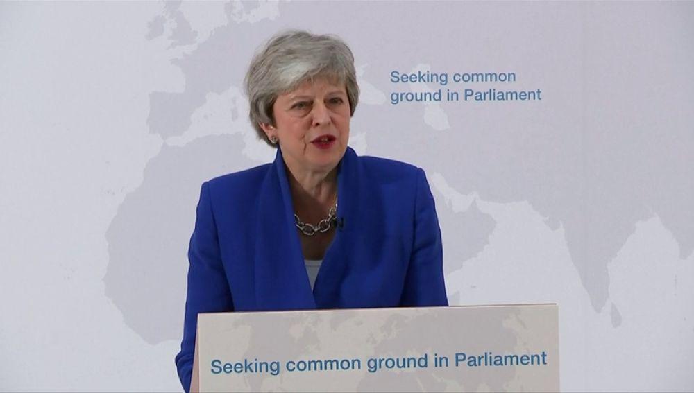 May ofrece al Parlamento un segundo referéndum si aprueban su nueva propuesta del 'Brexit'