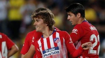 Griezmann celebra su último gol con el Atlético de Madrid
