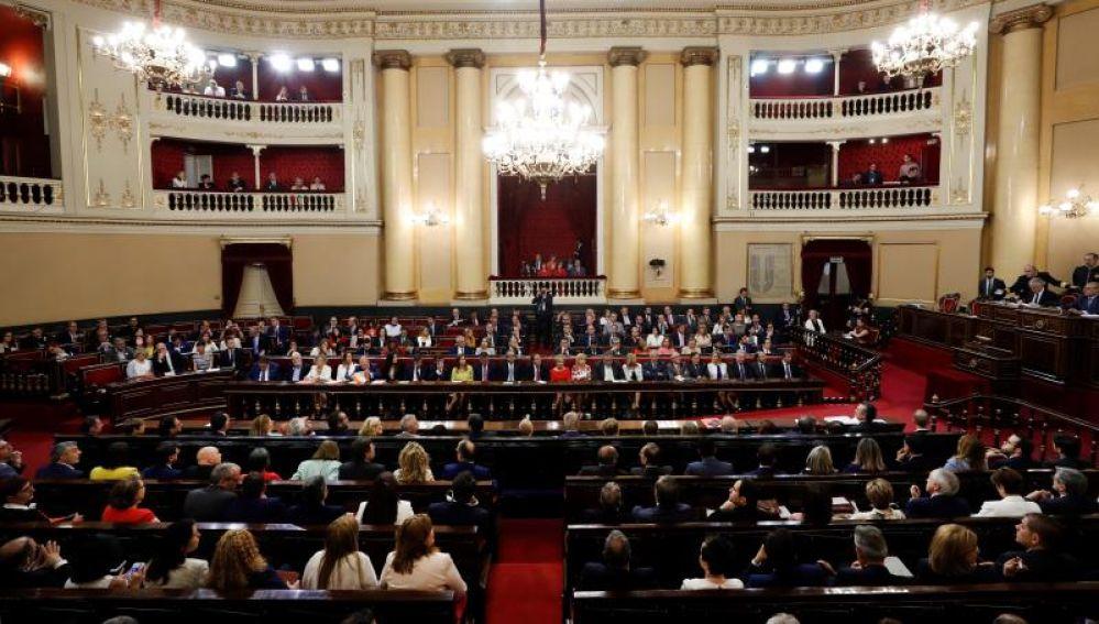 Vista general del hemiciclo del Senado donde se inicia a la XIII Legislatura