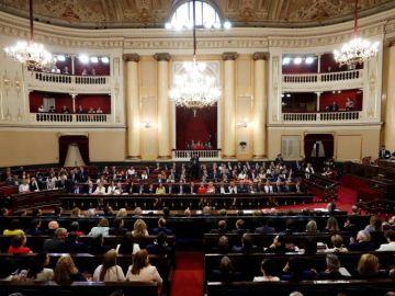 Vista general del hemiciclo del Senado