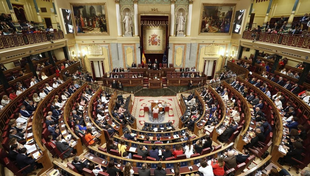 Vista general del hemiclíco del Congreso de los Diputados