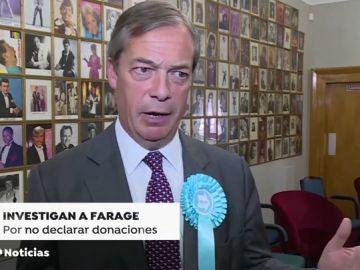 Nigel Farage, investigado por no declarar 500.000 euros procedentes de un multmillonario 'pro-brexit'