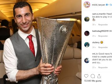 Mkhitaryan anuncia por Instagram que no va a jugar la final de la Europa League
