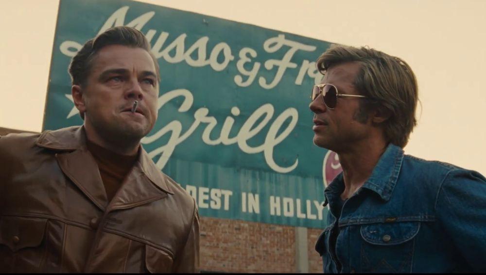 Leonardo DiCaprio y Brad Pitt en 'Once Upon a Time in Hollywood'