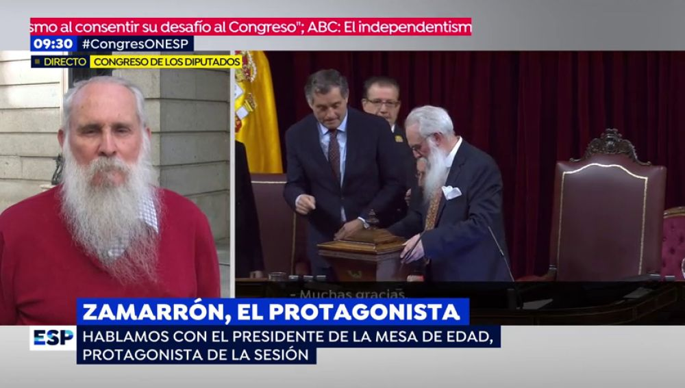 Espejo público entrevista a Zamarrón, presidente de la mesa del Congreso
