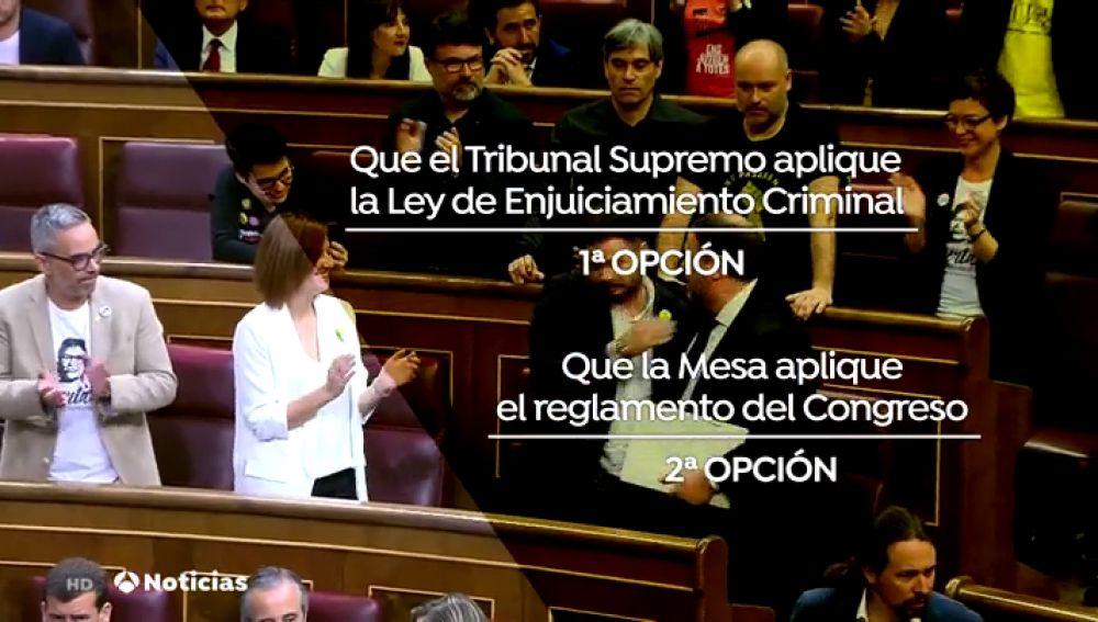 ¿A quién le toca decidir si suspenden o no a los políticos presos?