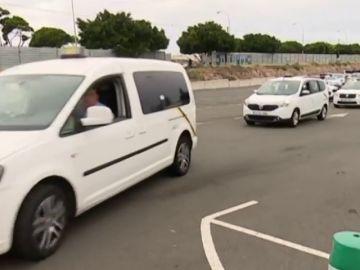 Los taxistas se ponen en huelga