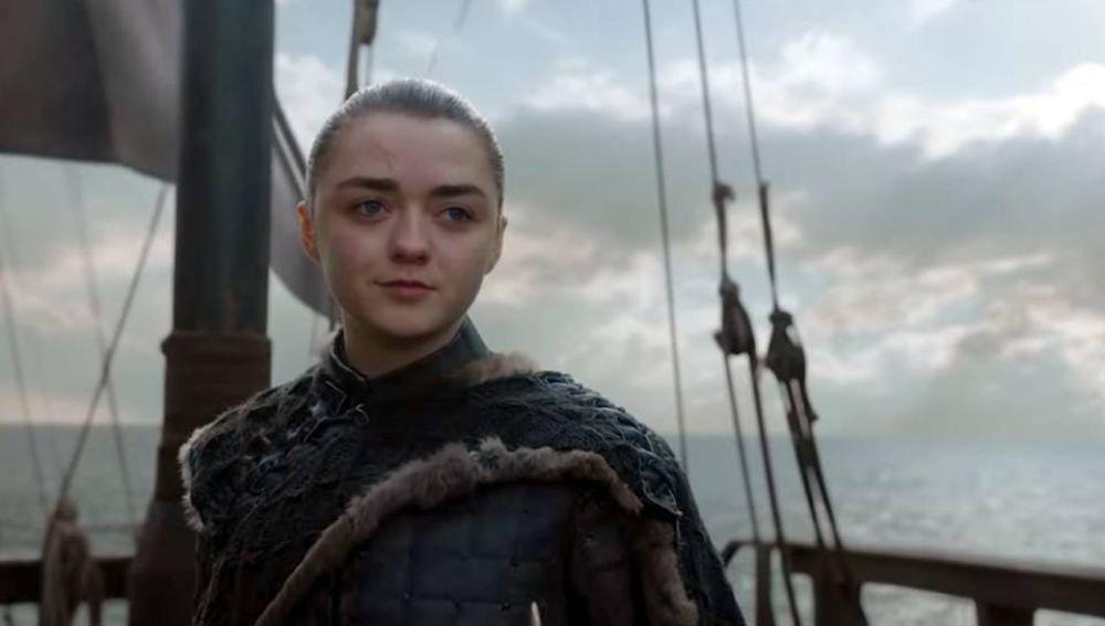 Maisie Williams como Arya Stark en el final de 'Juego de Tronos'