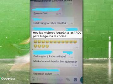 Suspenden un torneo de pelota en Azkoitia por los comentarios machistas de los participantes en Whatsapp
