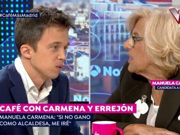 Manuela Carmena e Íñigo Errejón.