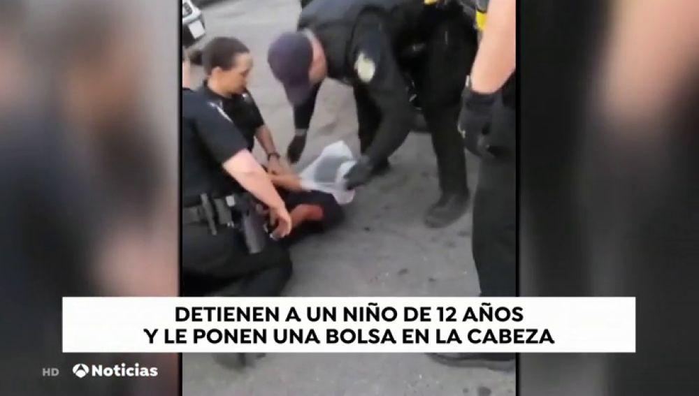 Brutal detención a un niño afroamericano de 12 años en Estados Unidos