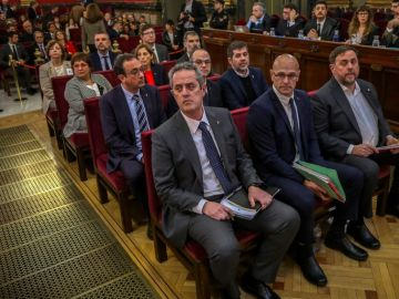 Los líderes independentistas en el juicio del 'procés' celebrado en el Tribunal Supremo.