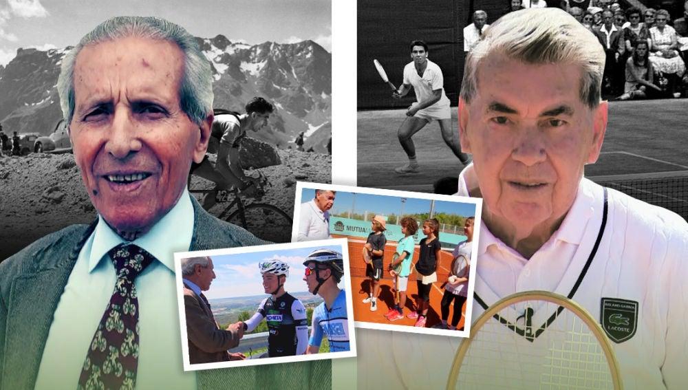 La lección de Manolo Santana y Martín Bahamontes a los más jóvenes: así han cambiado el tenis y el ciclismo desde los 60