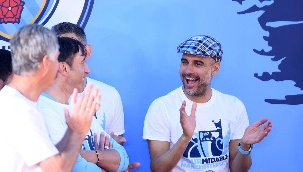 Pep Guardiola, en la celebración del Manchester City