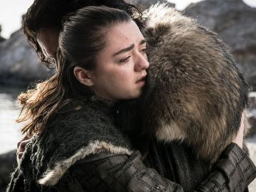 Arya y Jon en el final de 'Juego de Tronos'